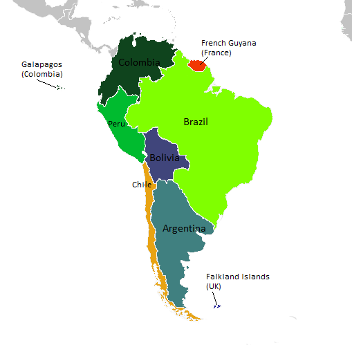 Best Photos of Labeled Map Of South America South America Map ClipArt