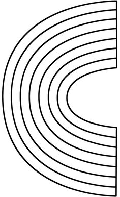 rainbow coloring pages 10 rows - photo#3