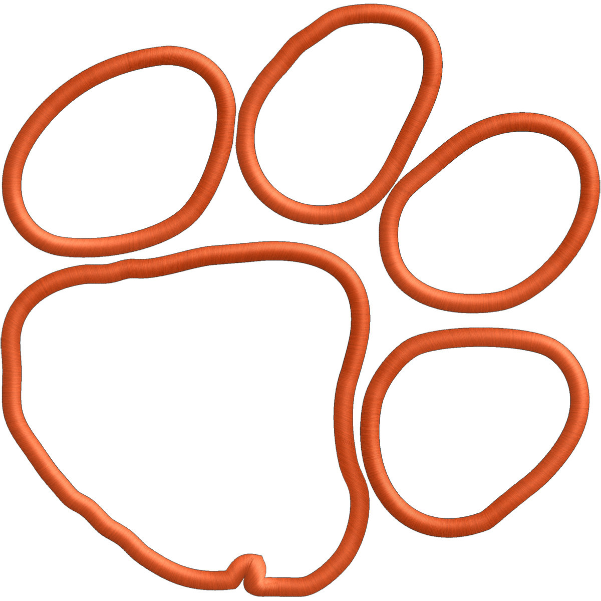 Tiger Paw Embroidery Or Applique File FILE By Verytrulyurstoo