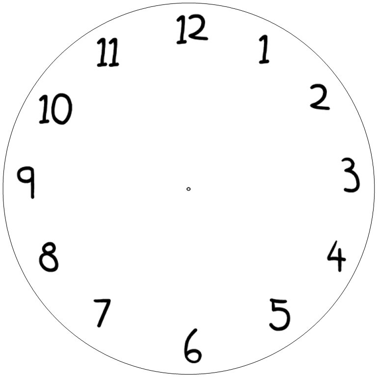 Comprehensive image with regard to free printable clock