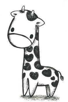Cartoon Giraffe Drawings - ClipArt Best