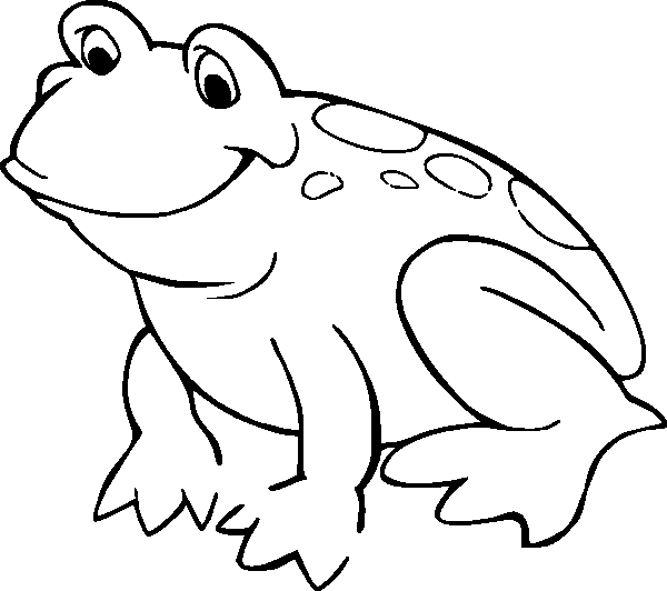 cartoon frog coloring pages - photo#34