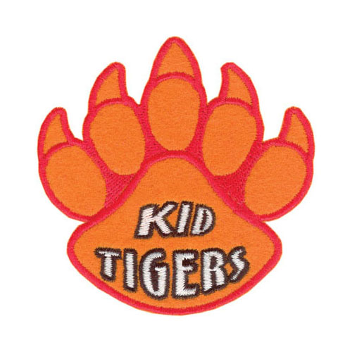 "Tiger Claw Kid Tigers Paw Print Patch - 3"" wide - Low Price of $1.87"