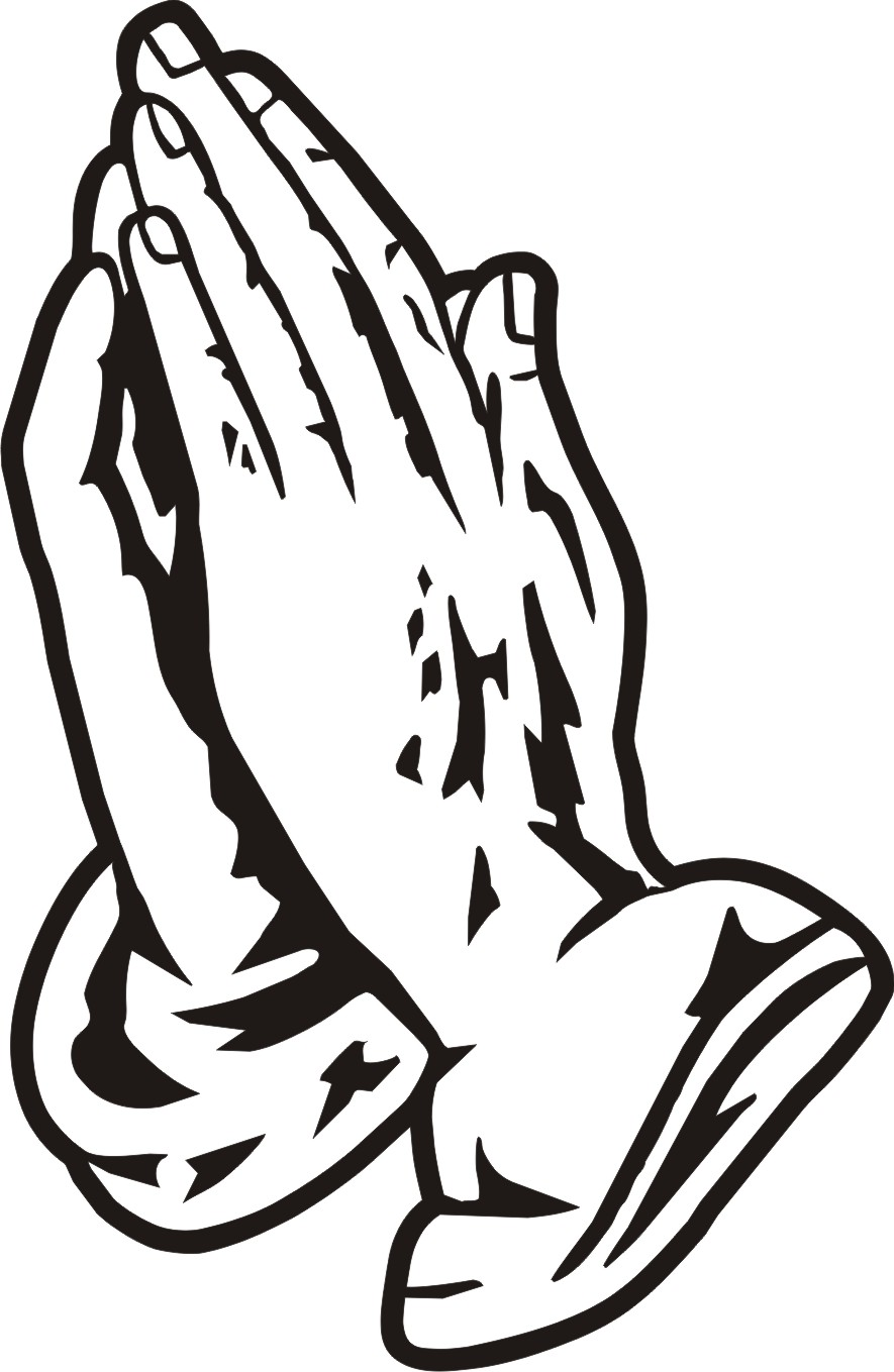 printable praying hands clipart best