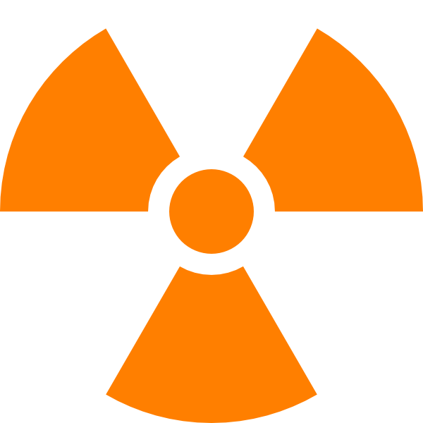 Nuclear Symbol Orange Clip Art - vector clip art ...