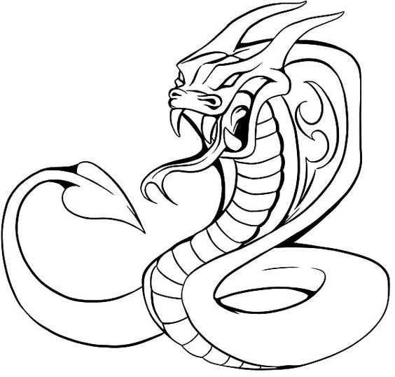 realistic cobra coloring pages - photo#31
