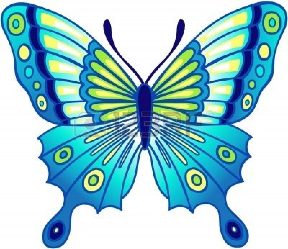 Colorful Butterfly Clip Art - ClipArt Best