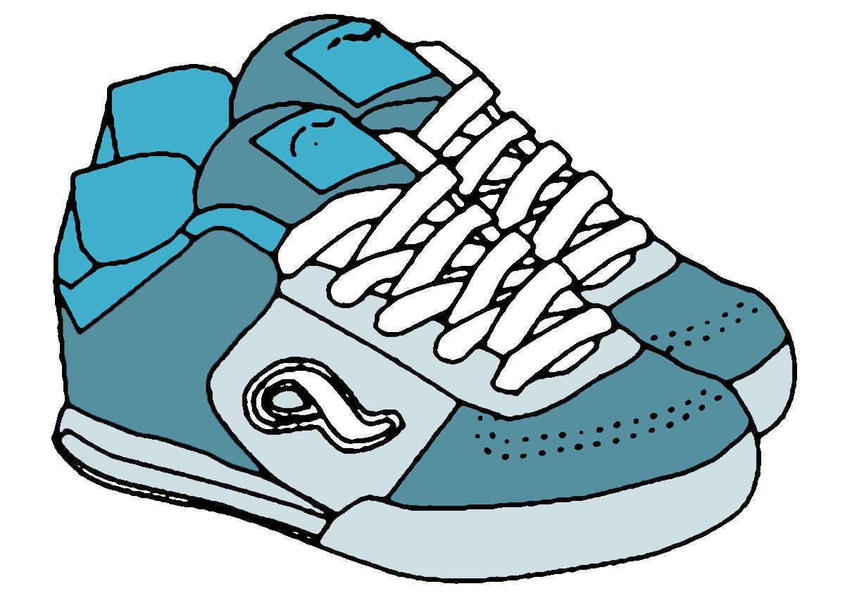 tennis shoe clip clipart best