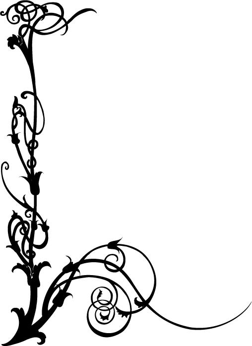 Black White Art Nouveau Clip Art Free - ClipArt Best