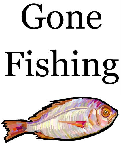 Gone fishing sign clip art