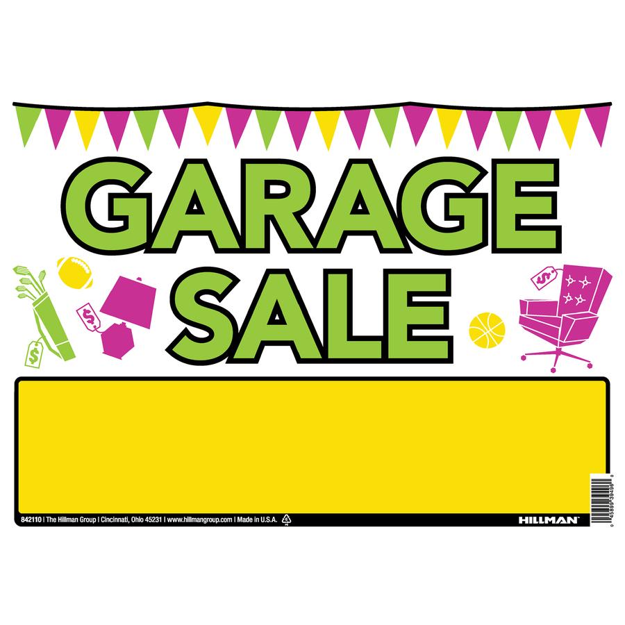 Garage Sale Sign Clipart Best