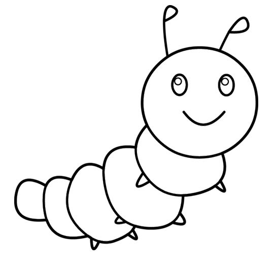 coloring pages caterpillars cartoon - photo#3
