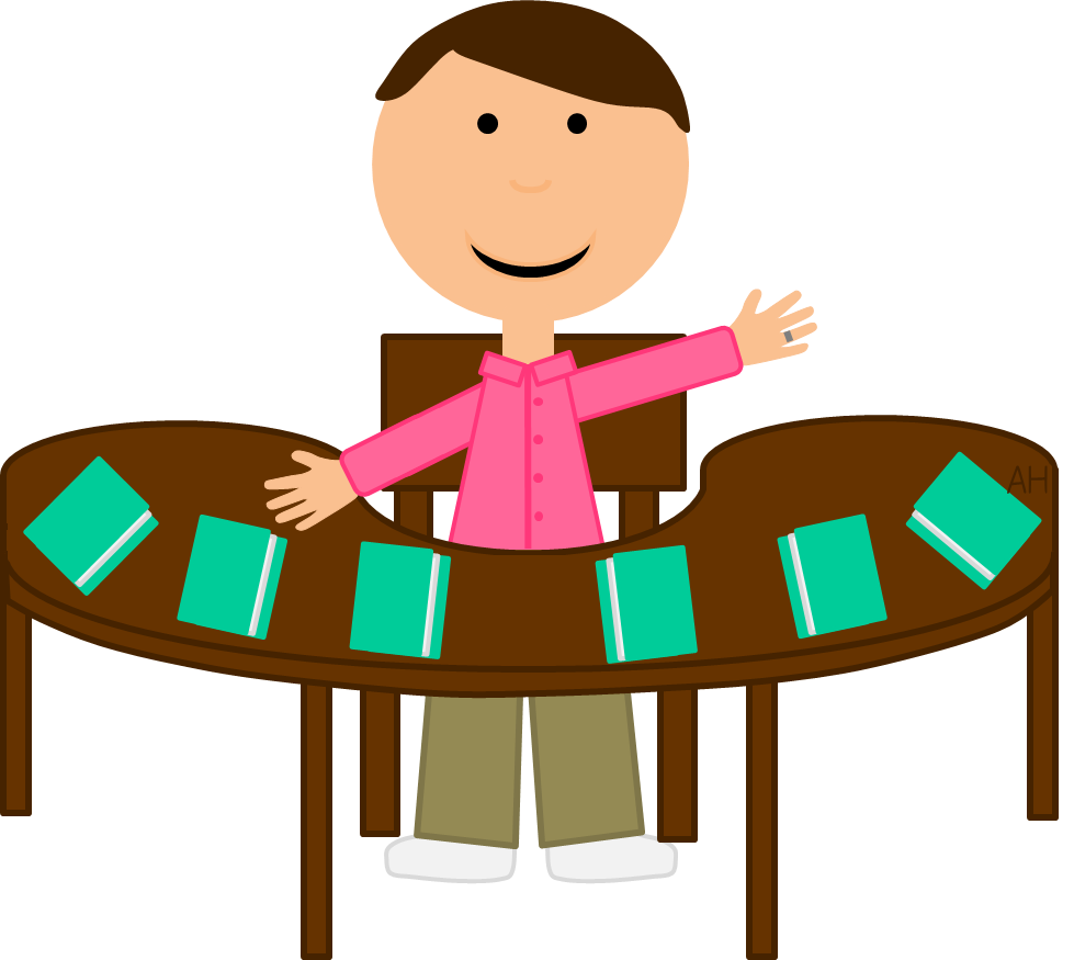 Teacher Table Clipart