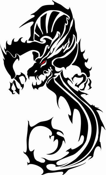 Black Vector Dragon - Vecteezy! - Download Free Vector Art, Stock ...: www.clipartbest.com/black-dragon-designs