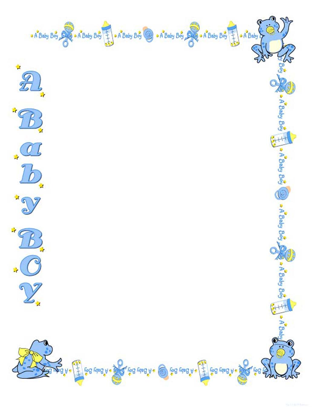 Baby Boy Borders - ClipArt Best