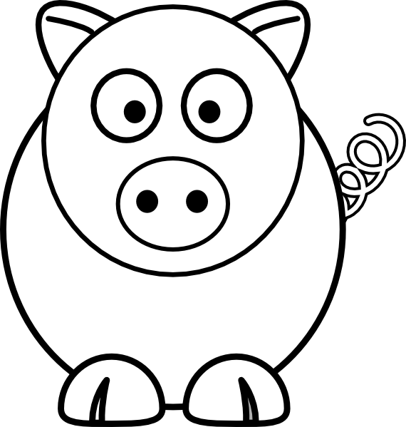 Cartoon Pig Black And White clip art - vector clip art online ...: www.clipartbest.com/clipart-nTBX5aonc