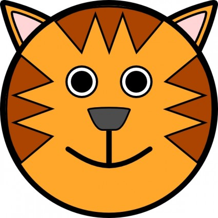 Tiger Face clip art Vector clip art - Free vector for free download