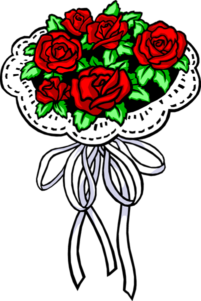 Red Rose Nosegay Clipart Best Clipart Best