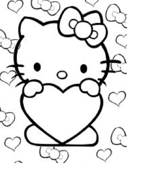 Hello Kitty Heart Coloring Pages : Hearts on fire coloring pages clipart best