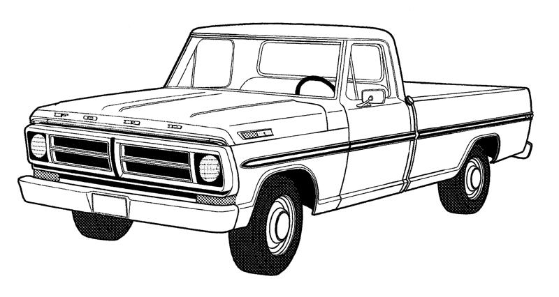 F350 Diesel Ford Picup In Free Coloring Pages