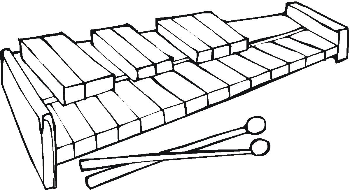 Xylophone Coloring Page Clipart Best