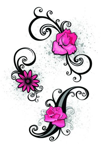 scroll small tattoo designs for women flower tattoos on foot art clipart best clipart best. Black Bedroom Furniture Sets. Home Design Ideas