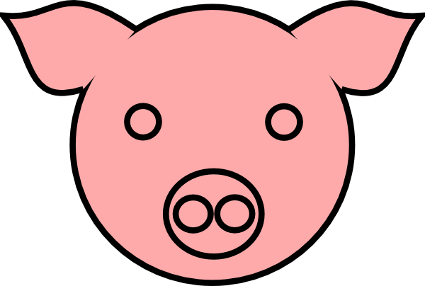 Pig 9 clip art vector clip art online royalty free for Template for pig ears