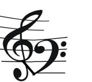 Treble clef bass clef heart tattoo clipart best for Treble bass heart tattoo