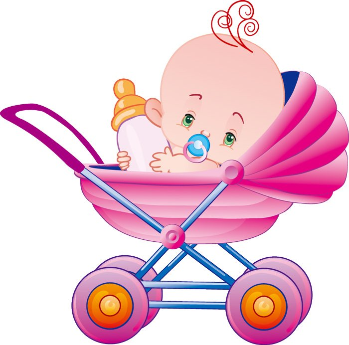 Cartoon baby bottles and baby car Vector | Vector Images - Free ...