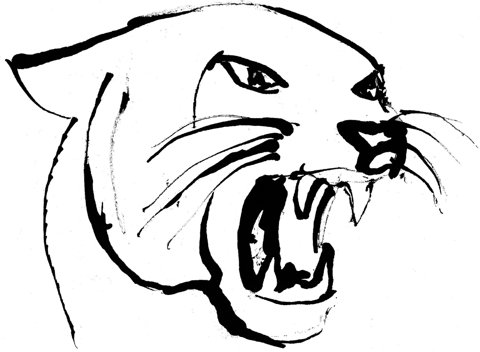 panther drawing outline - photo #10
