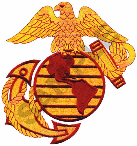 Birds Embroidery Design: U.S. MARINE CORPS LOGO from Great Notions