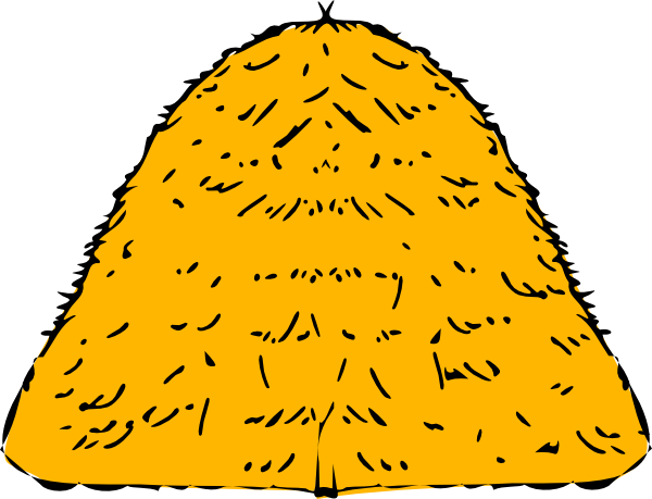 Yellow Hay Stack clip art - vector clip art online, royalty free ...