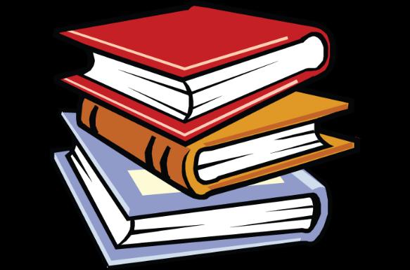 books stack cartoon clipart literature