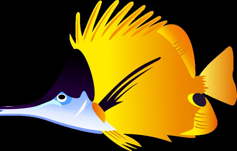 Yellow Fish Clip Art Clipart Best