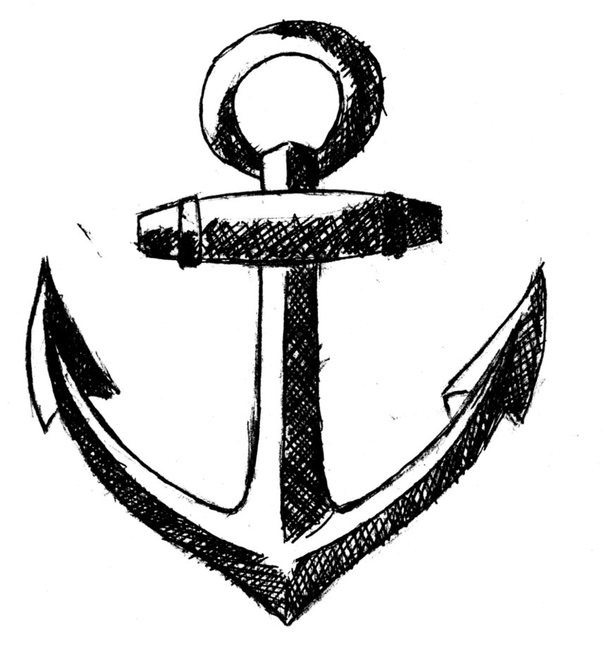 Simple anchor drawing 2017