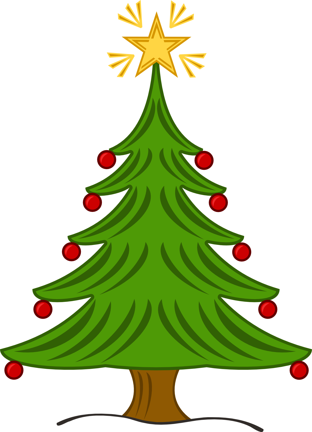 Clip Art Of Christmas Tree - ClipArt Best