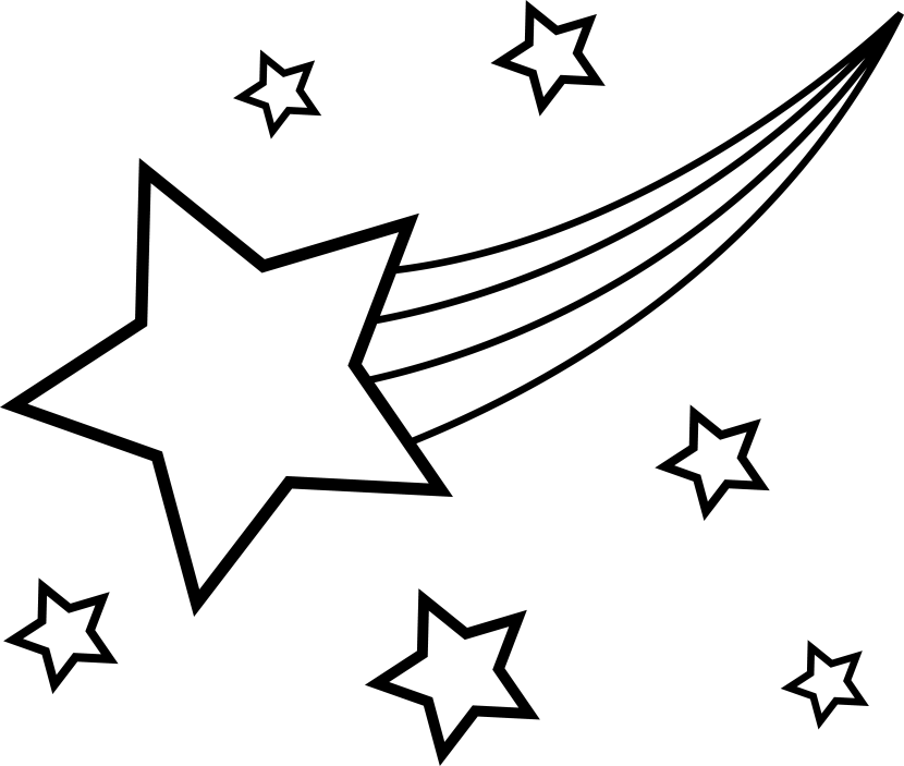 black and white star clip art - photo #7