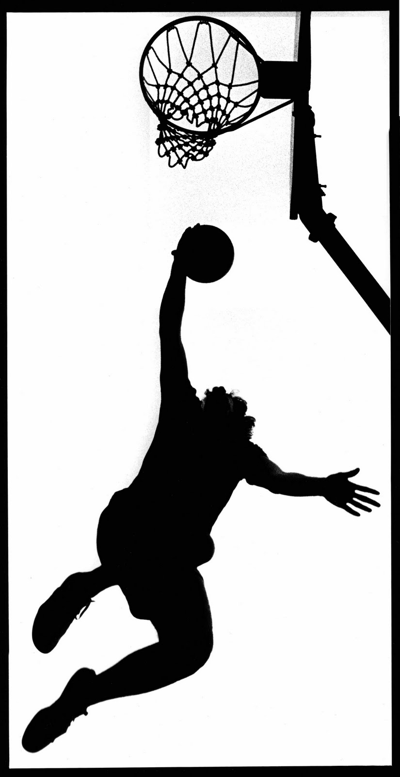 Girls basketball silhouette clip art