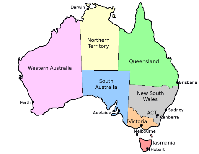 Blank Australia Map - ClipArt Best