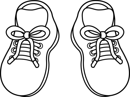 Running Shoe Coloring Page - ClipArt Best