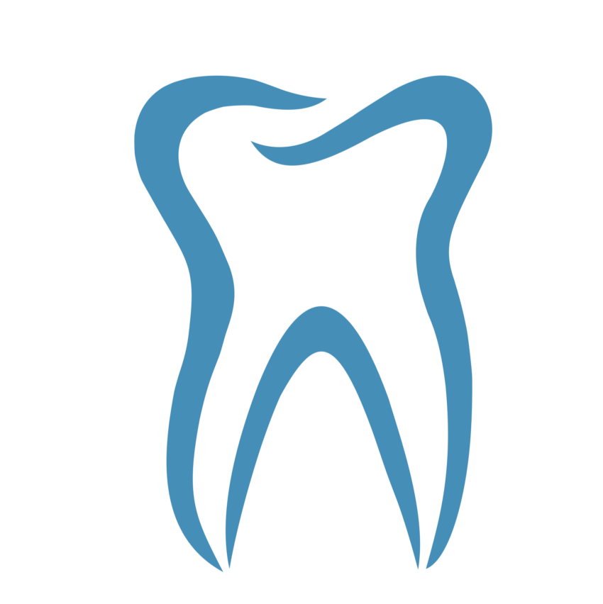 Dental Tooth Logo on Toothbrush Clip Art
