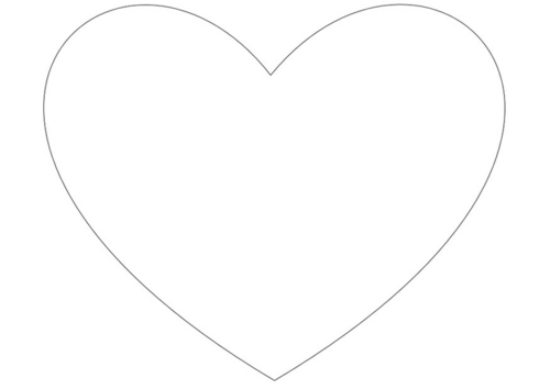 big heart coloring printable pages - photo#5