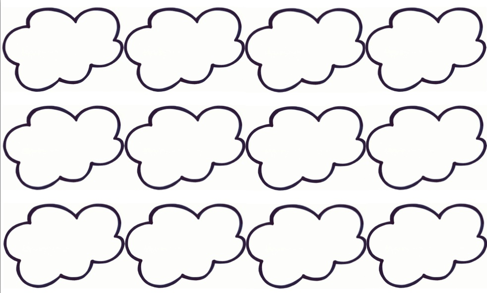 templates of clouds clipart best. Black Bedroom Furniture Sets. Home Design Ideas