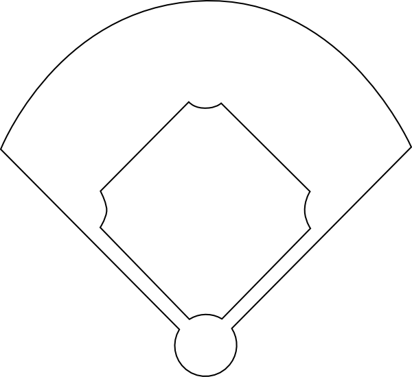 baseball position chart template - blank baseball field diagram clipart best