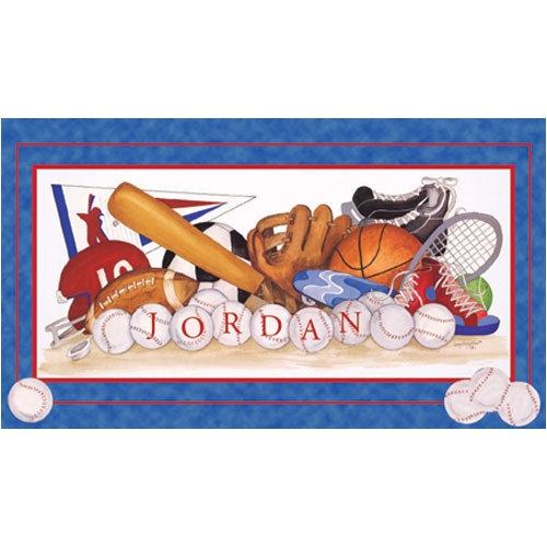 Art 4 kids sports equipment wall art decor walmart for Walmart art decor