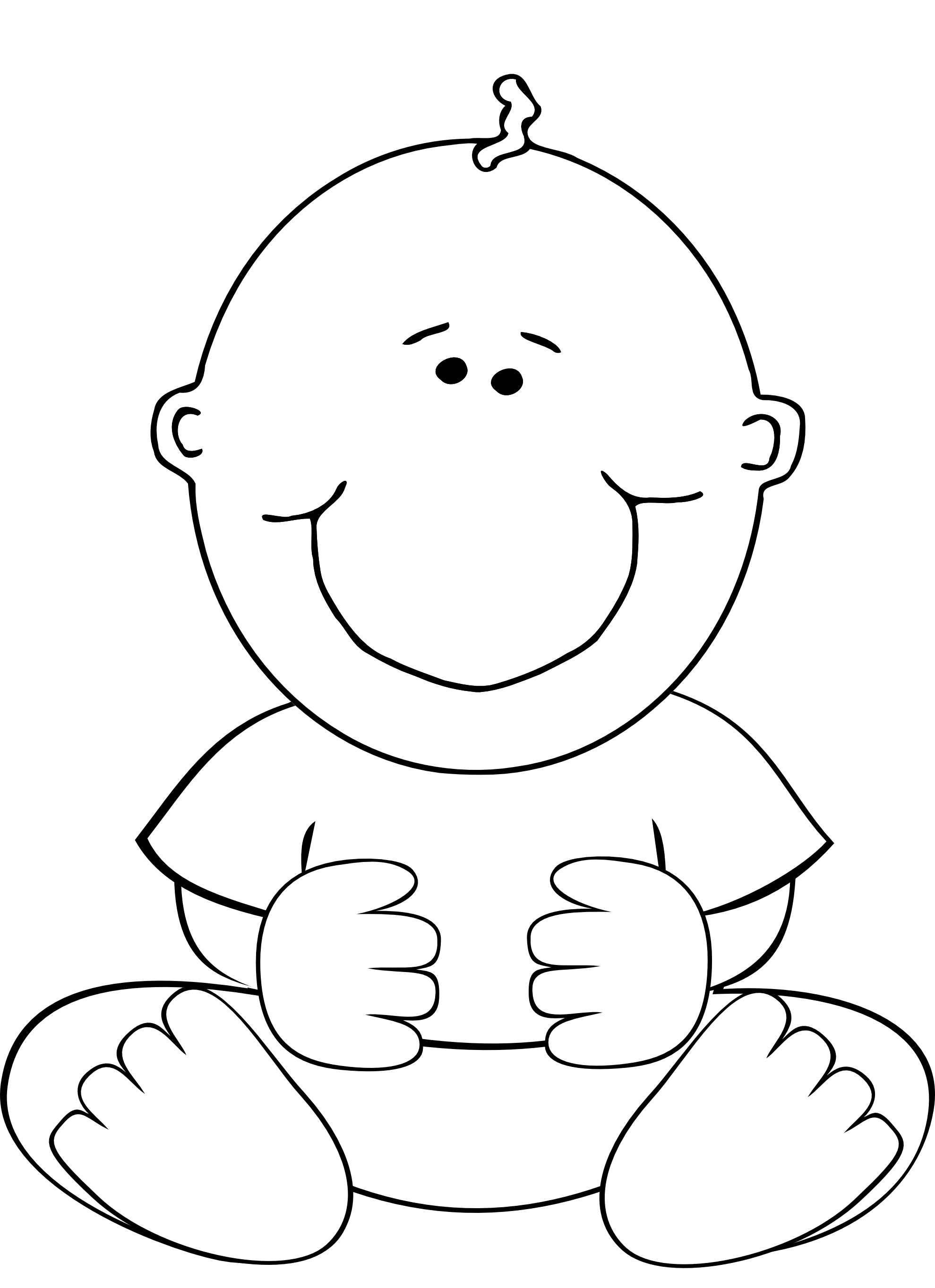 baby boy clip art coloring pages - photo #7