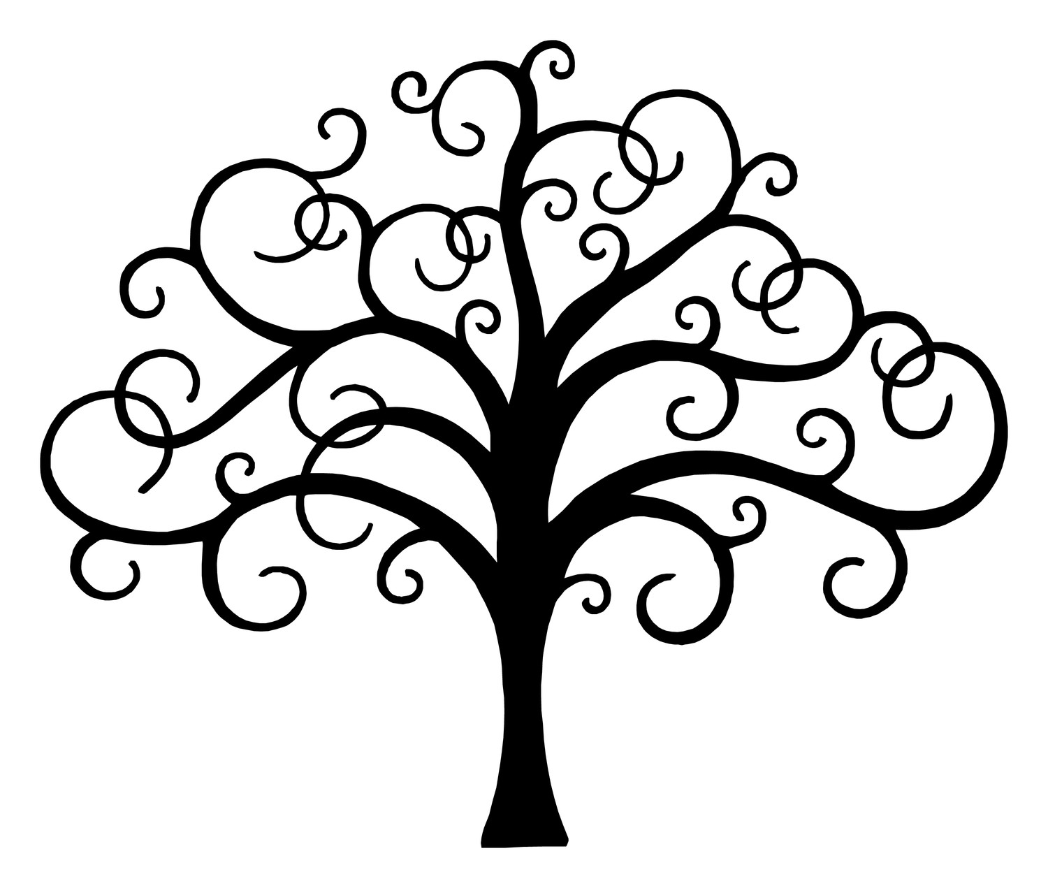 Tree Line Art Design : The tree of life drawing clipart best