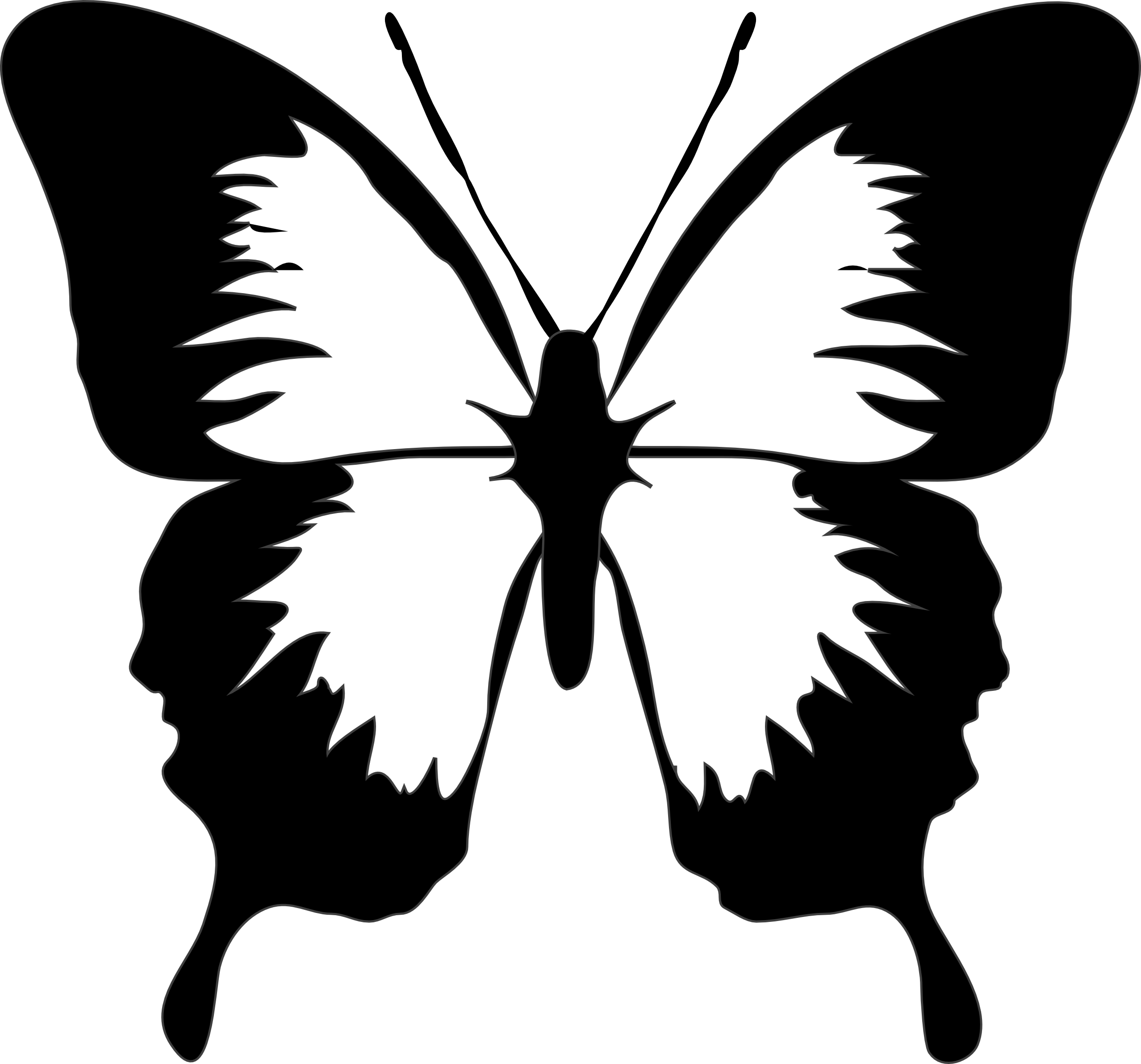 Butterfly Clipart Black And White - ClipArt Best