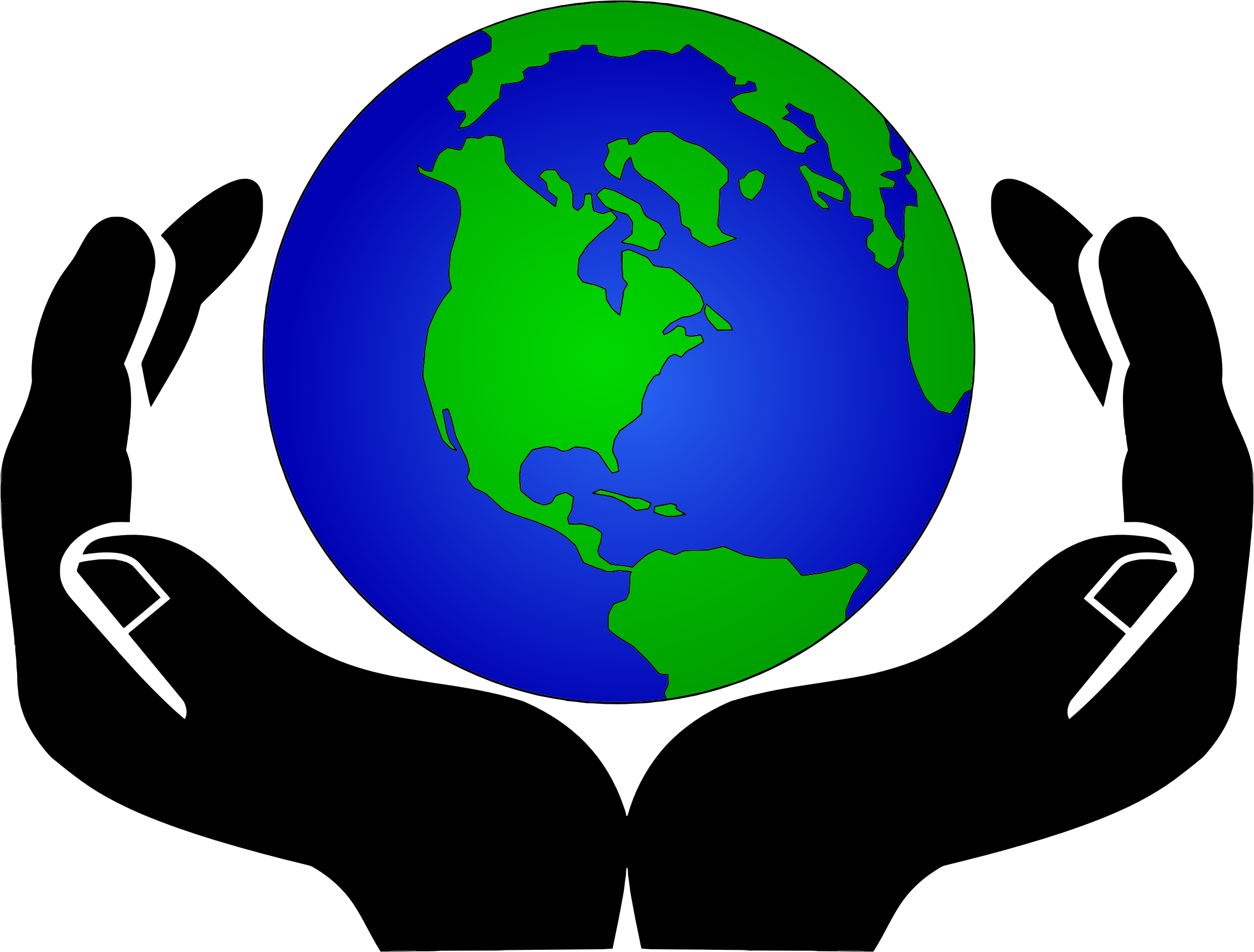 Hands Holding World Clipart