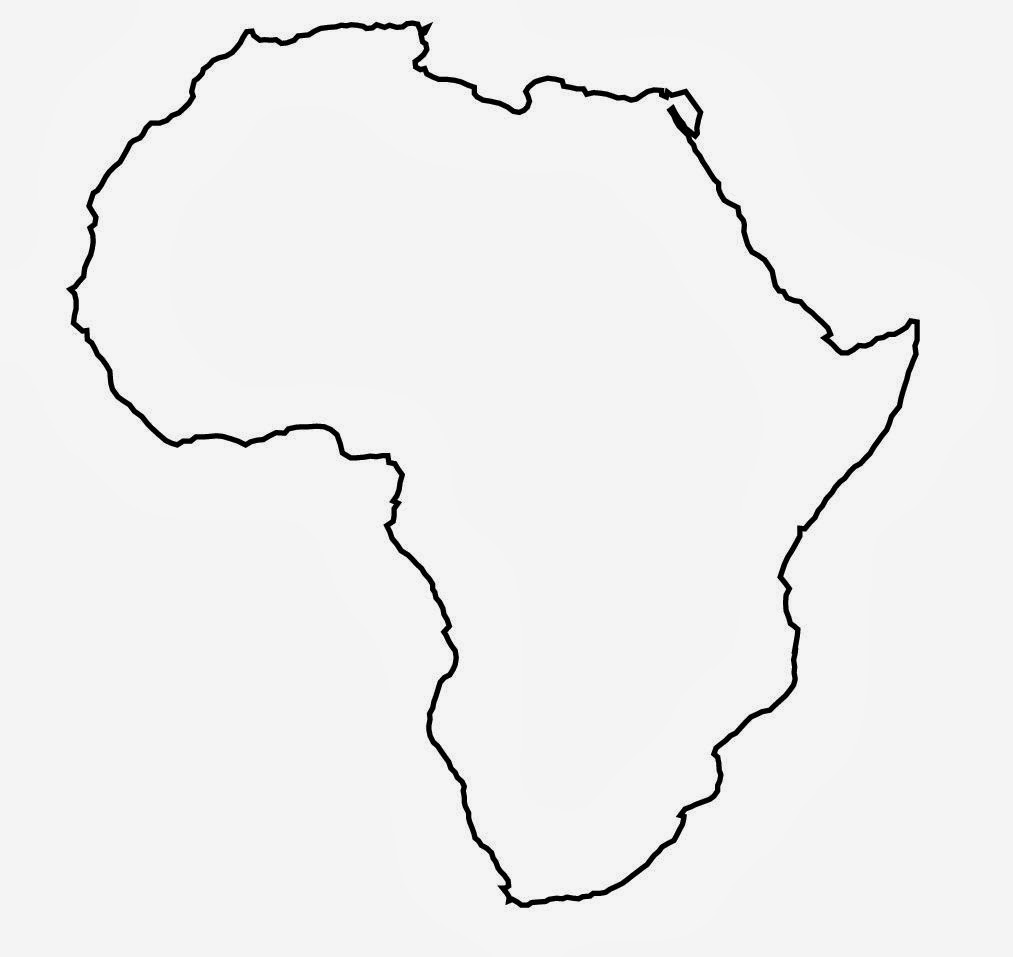 Worksheets Africa Map Outline clipart africa map outline example blank best